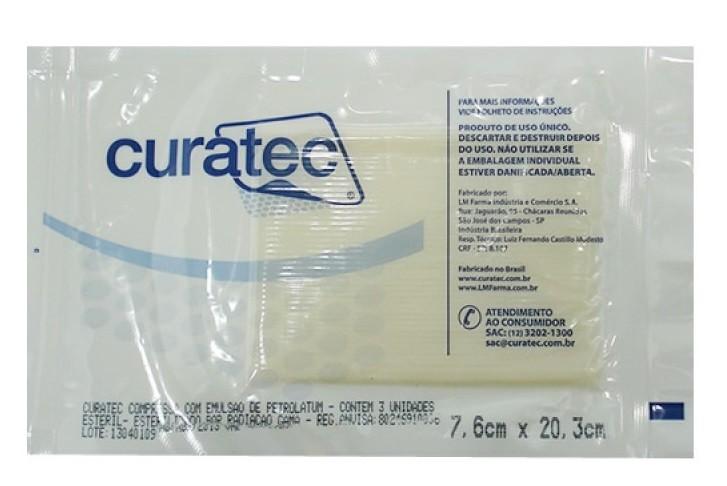 Petrolatum Curativo 7,6x20,3cm c/3uni. Curatec