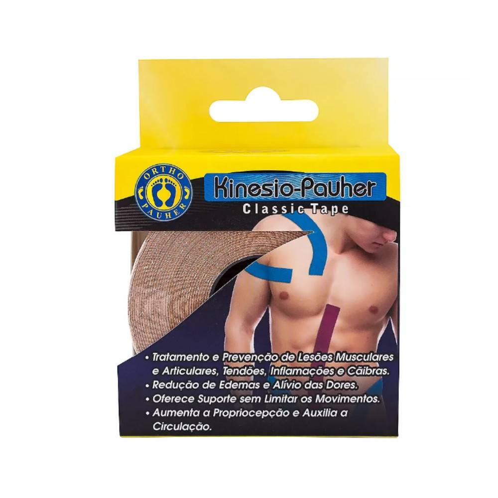 Fita Kinesio-Pauher Tape Bege Ortho Pauher